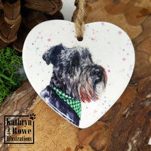 Load image into Gallery viewer, Miniature Schnauzer Ceramic Decoration