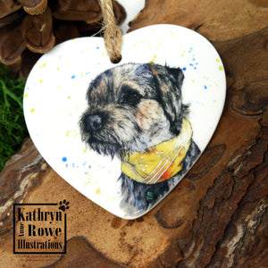 Border Terrier Ceramic Decoration