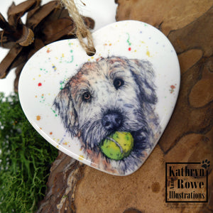 Soft Coated Wheaten Terrier Ceramic Decoration