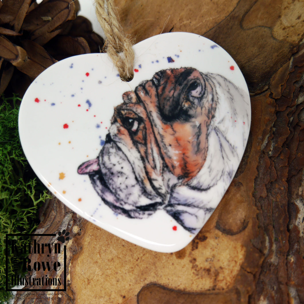 Bulldog Ceramic Decoration