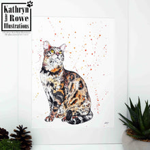 Load image into Gallery viewer, 'Sebastian' - Bengal Cat - Original Watercolour Painting