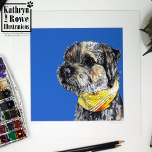 Border Terrier Giclee Print (Mounted)