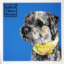 Load image into Gallery viewer, Border Terrier Giclee Print (Mounted)