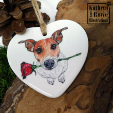 Load image into Gallery viewer, Jack Russell Ceramic Decoration