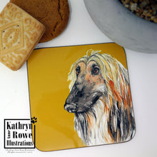 Load image into Gallery viewer, Afghan Hound Coaster