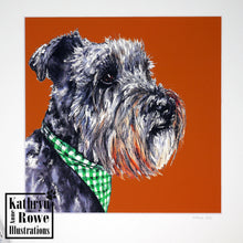 Load image into Gallery viewer, Miniature Schnauzer Print  (Mounted)