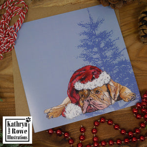 Dogue de Bored-Oh Has He Been Yet?  Christmas Card