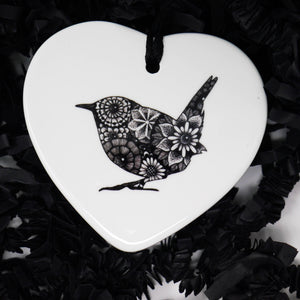 Wren Ceramic Decoration