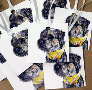 Border Terrier Gift Tags