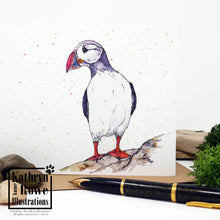 Load image into Gallery viewer, Puffin Greeting Card