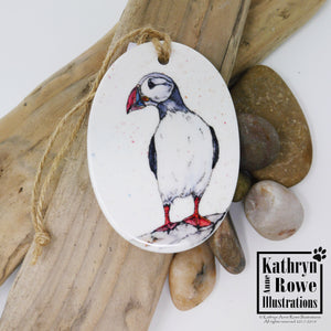 Puffin Ceramic Decoration