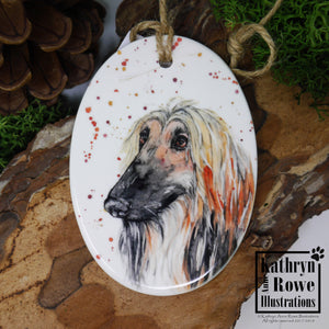 Afghan Hound Decoration