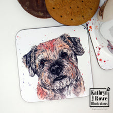 Load image into Gallery viewer, Border Terrier Coaster