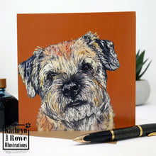 Load image into Gallery viewer, Border Terrier Greeting Card