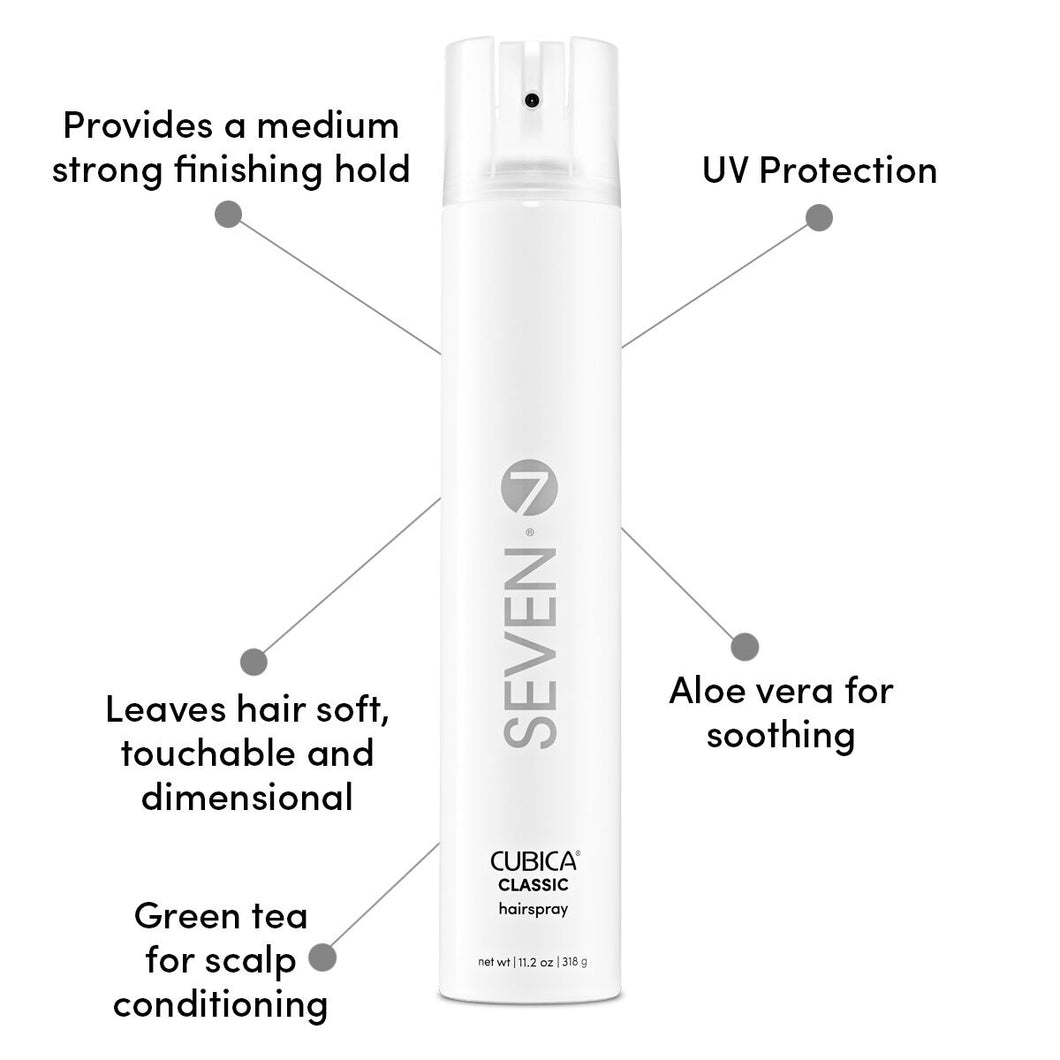 Seven Cubica Last & Layer Classic Hairspray 11.2oz
