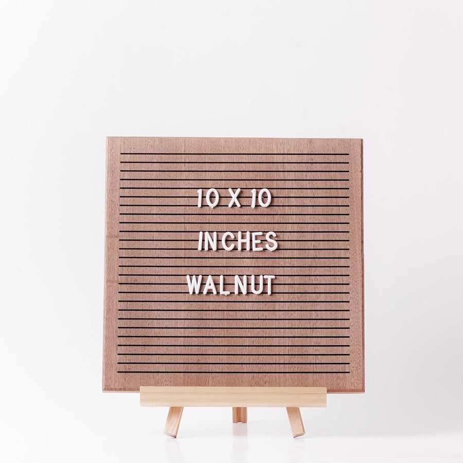 Walnut Wooden Letter Board
