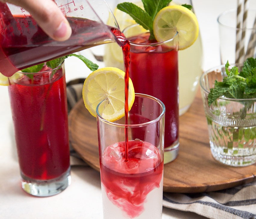 MINT HIBISCUS LEMONADE RECIPE