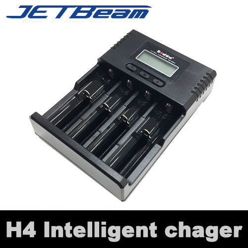 JETBEAM.JP リチウムイオンバッテリー用 インテリジェントチャージャー 充電器 4本対応 Battery Charger「H4 Intelligent Charger」