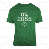 0 Percent Irish Clover Funny St Patricks Day T Shirt Design
