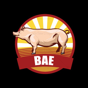Bacon Bae Retro Food T Shirt Design