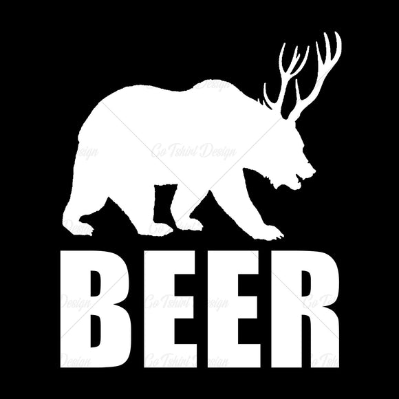 Beer Bear Funny T Shirt Design