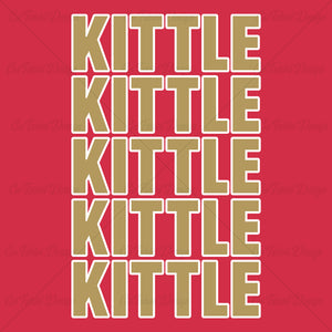 George Kittle x5 Football T Shirt Design