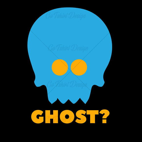 Blue Ghost Halloween T Shirt Design