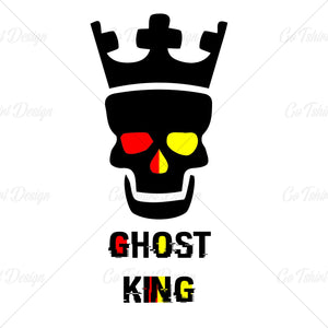 Ghost King Crown Horror T Shirt Design