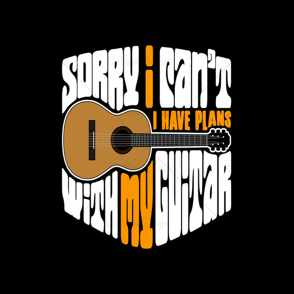 Guitar Plans Music T Shirt Design