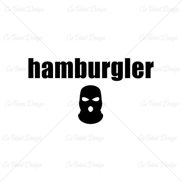 Hamburgler Funny Food T Shirt Design