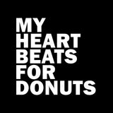 My Heart Beats For Donuts Funny Food T Shirt Design