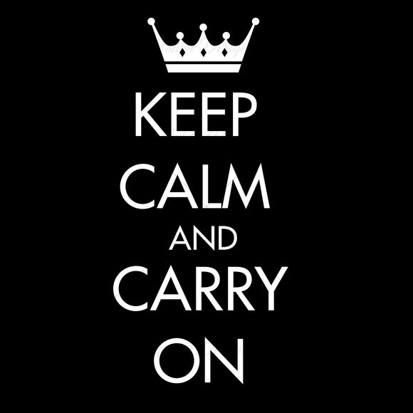 Keep Calm Carry On Typography T Shirt Design
