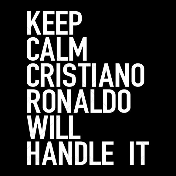 Keep Calm Cristiano Ronaldo Soccer T Shirt Design