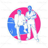 Miami Vice Crockett And Tubbs Retro T Shirt Design