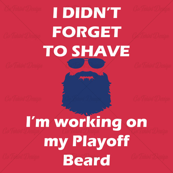 Montreal Playoff Beard Hockey T Shirt Design