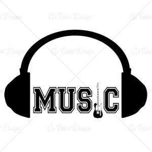 Headphone Music Fan T Shirt Design