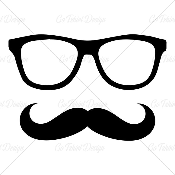 Hipster Glasses Mustache Various T Shirt Design