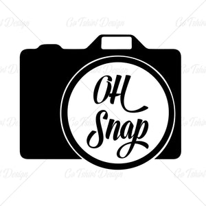 Oh Snap Camera Photography Funny T Shirt Design