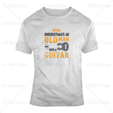 Old Man Guitar Music T Shirt Design