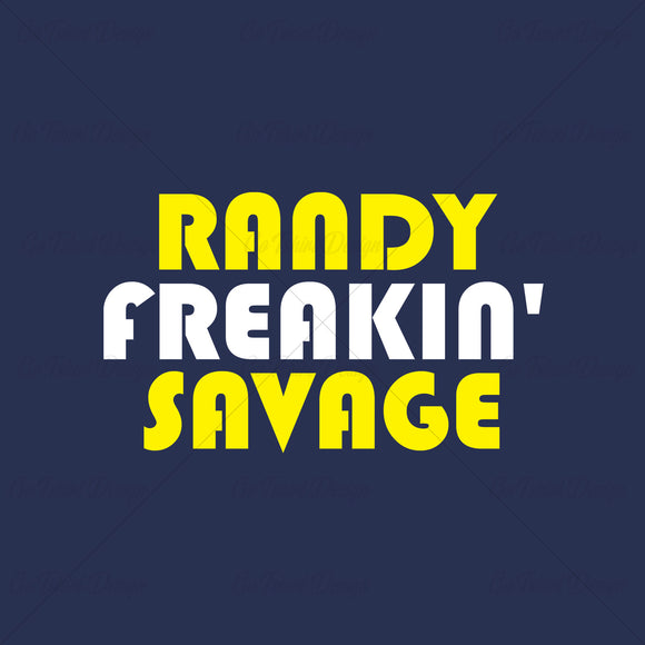 Randy Savage Freakin Wrestling T Shirt Design