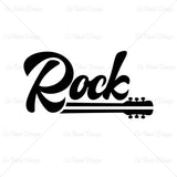 Rock Guitar White Music T Shirt Design