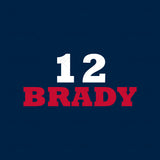 Tom Brady 12 Football T Shirt Design