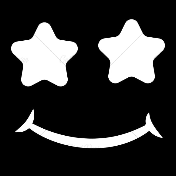 White Star Smiley Face Various T Shirt Design