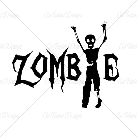 Walking Zombie Halloween Horror T Shirt Design