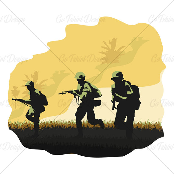 Army In War Various T Shirt Design