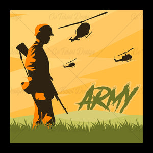Army Soldier Various T Shirt Design