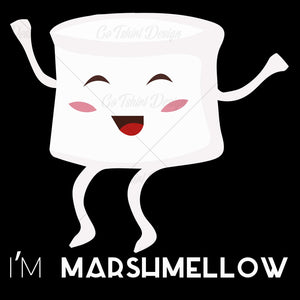 I Am Marshmellow Funny T Shirt Design