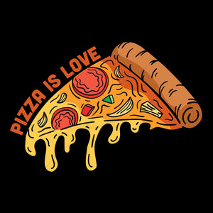Pizza Is Love Food T Shirt Design