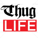 Thug Life Music T Shirt Design