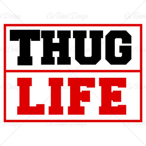 Thug Life Meme Music T Shirt Design